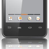 Smartphone menu — Stock Vector