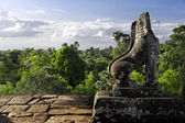 Stone Lion Guardian at Pre Rup — Stock Photo