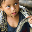 Stock Photo: Child Snake Performer
