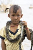 Snake Boy — Stock Photo
