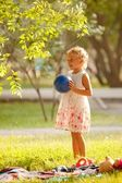 The little girl in the park. — Stock Photo