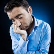 Man Portrait Sulk Tired — Stockfoto