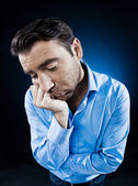 Man Portrait Sulk Tired — Stock Photo