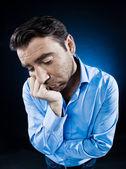Man Portrait Sulk Tired — Stock Photo