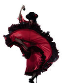 Woman gipsy flamenco dancing dancer — Foto de Stock