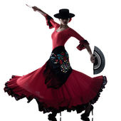 Woman gipsy flamenco dancing dancer — Stock Photo