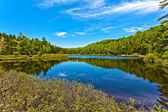 Lake of sacacomie in quebec canada — Stock Photo