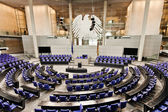 Parliament german bundestag room Reichstag berlin germany — Stock Photo