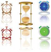 時計セット. — ストックベクタ