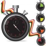 Stopwatch set. — Stock Vector