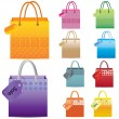 Stock Vector: Shopping Bag set.