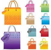 Shopping Bag set. — Stock Vector