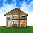 Stock Photo: Eco Friendly House Interior