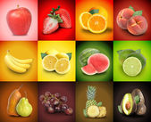 Colorful Fruit Food Square Background — Foto de Stock