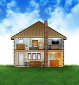 Eco Friendly House Interior — Stock Photo