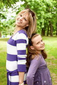 Cute mother and daughter — Foto Stock
