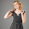 Picture of lovely woman in dress — Stock Photo #11231499