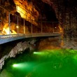 Stock Photo: The underground lake in cave.