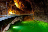 The underground lake in cave. — Stock Photo