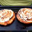 Two mushroom pizzas — Stock Photo #11958022