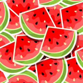 Seamless background with watermelon — Stock Vector