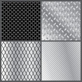 Grey metal textures — Stock Vector