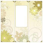 Floral triptychon — Stockvektor