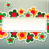 Floral pattern on grey — Stock Vector