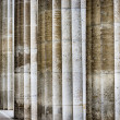 Architectural detail of fluted columns - Stock Photo