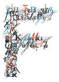Brief f, alfabet van brieven — Stockfoto
