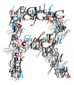 γράμμα r, αλφάβητο από γράμματα — Φωτογραφία Αρχείου