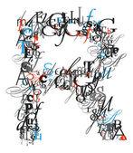 R письмо, алфавит, буквы — Стоковое фото