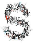 Lettera s, alfabeto da lettere — Foto Stock