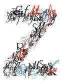 Dopis z, abeceda z dopisů — Stock fotografie