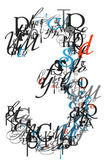 Number 3, alphabet from letters — Stock Photo