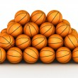 Foto de Stock  : Stack of basketball balls