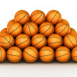 Стоковое фото: Stack of basketball balls