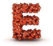 Letter E, american football alphabet — Stock Photo