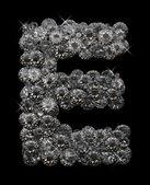 Letter E in diamonds — Stock Photo