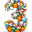 Number 3, gaming balls alphabet - Stock Photo
