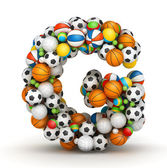Letter G, gaming balls alphabet — Stock Photo