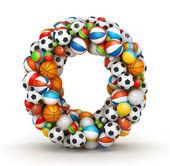 Letter O, gaming balls alphabet — Stock Photo