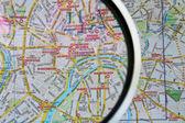 The Kremlin on the map — Stock Photo