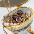 Постер, плакат: Jewelry egg with gold ornaments