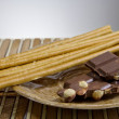 Chocolate with bread sticks — Stock Photo #11653434