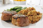 Succulent pork tenderloin dinner — Foto de Stock