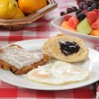 Chicken fried steak breakfast — Stock Photo