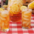 Summer refreshments, iced tea - Stock Photo