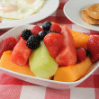 Stock Photo: Fruit salad breakfast