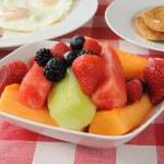 Fruit salad breakfast — Stock Photo